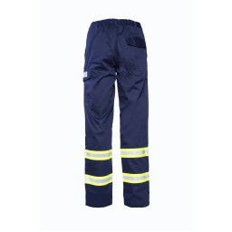 AML01- Pantalone estivo multinorma blu con bande rifrangenti