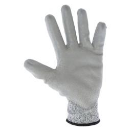 GU3351 - Guanto in maglia resistente al taglio spalmato in poliuretano di colore grigio