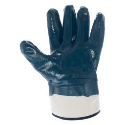 GU4004 - Guanto in maglia di cotone pesante spalmato in gomma antiusura NBR blu